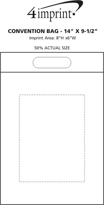 """Imprint Area of Convention Bag - 14"""" x 9-1/2"""""""
