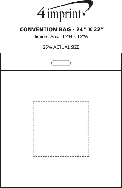 """Imprint Area of Convention Bag - 24"""" x 22"""""""