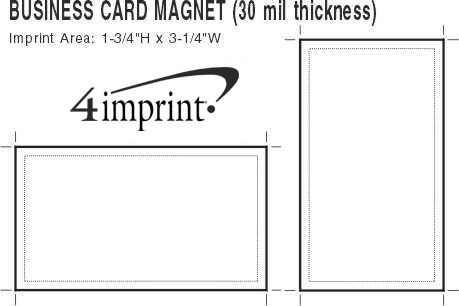 Imprint Area of Business Card Magnet - 30 mil