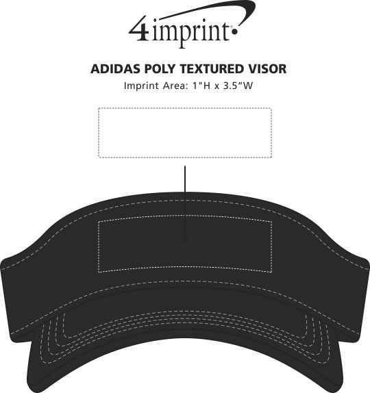 Imprint Area of adidas Poly Textured Visor