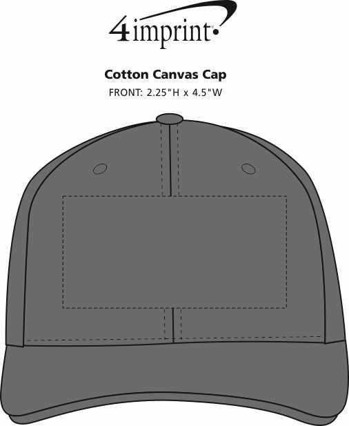 Imprint Area of Cotton Canvas Cap