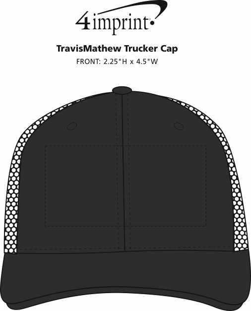 Imprint Area of TravisMathew Trucker Cap