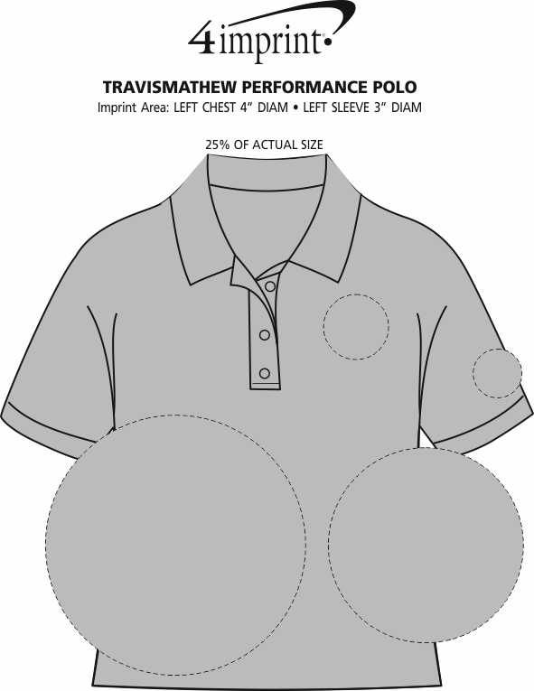 Imprint Area of TravisMathew Performance Polo