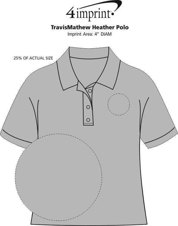 Imprint Area of TravisMathew Heather Polo