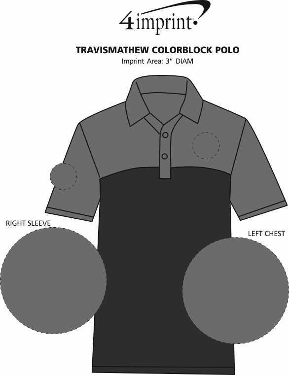 Imprint Area of TravisMathew Colorblock Polo