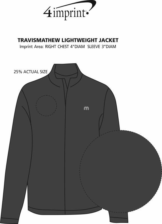 Imprint Area of TravisMathew Lightweight Jacket