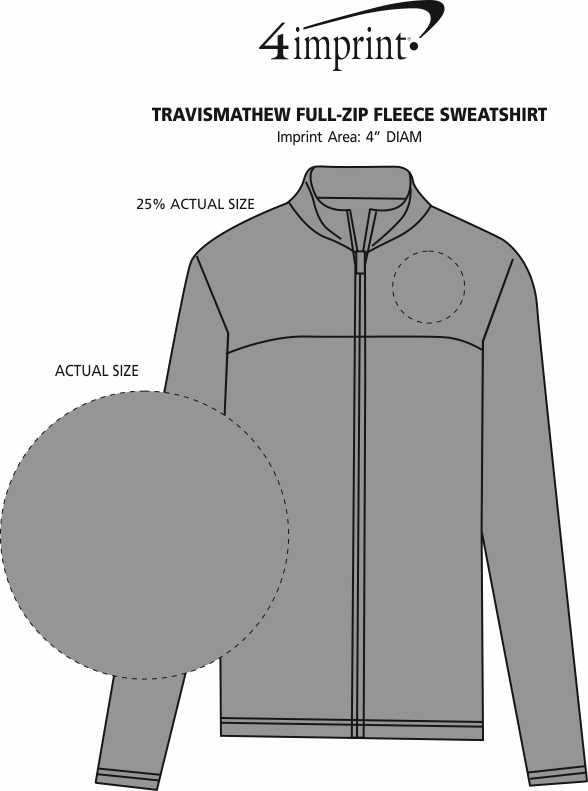 Imprint Area of TravisMathew Full-Zip Fleece Sweatshirt