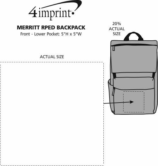 Imprint Area of Merritt RPET Backpack
