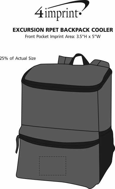 Imprint Area of Merchant & Craft Revive Laptop Backpack