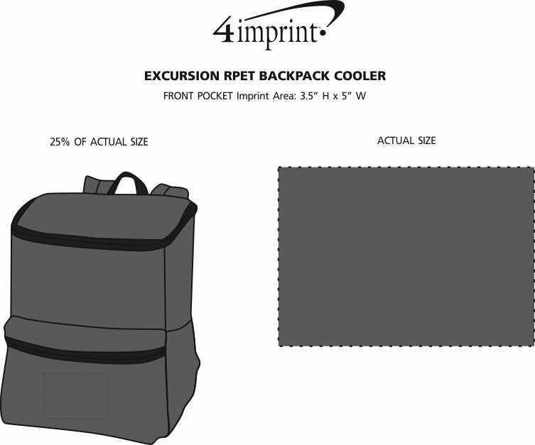 Imprint Area of Excursion RPET Backpack Cooler