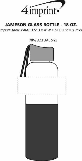 Imprint Area of Jameson Glass Bottle - 18 oz.