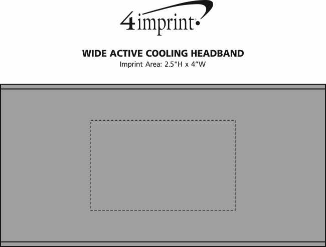 Imprint Area of Wide Active Cooling Headband