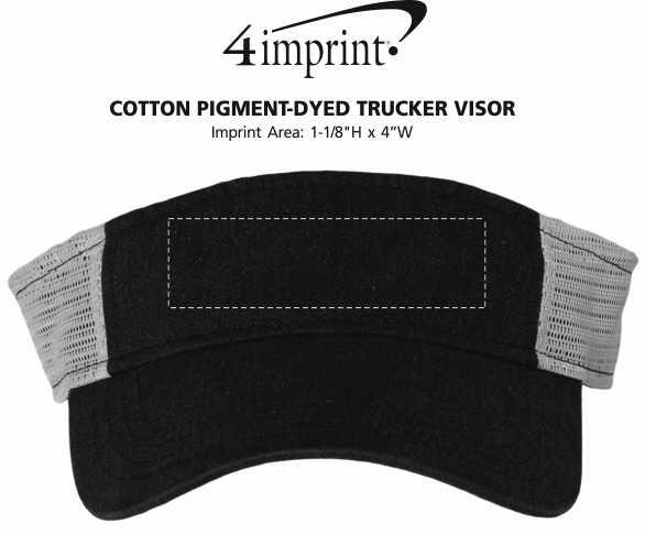 Imprint Area of Cotton Pigment-Dyed Trucker Visor