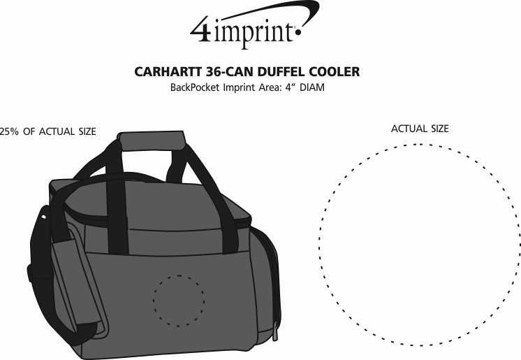 Imprint Area of Carhartt 36-Can Duffel Cooler