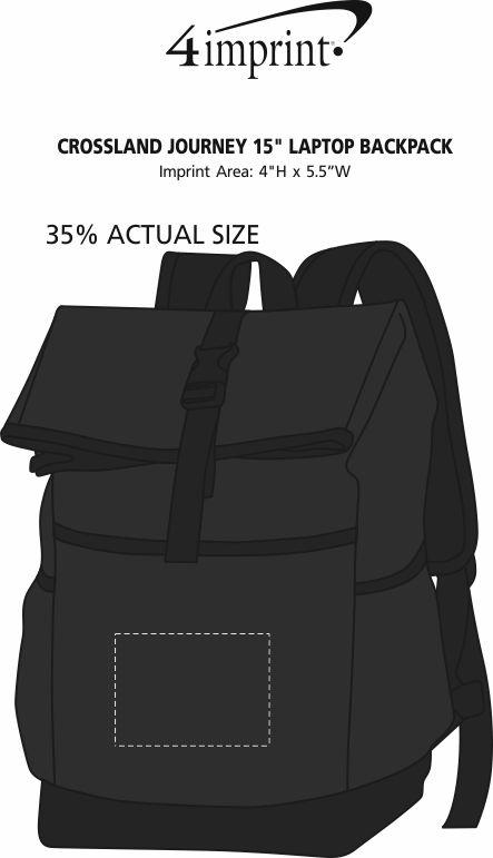 "Imprint Area of Crossland Journey 15"" Laptop Backpack"