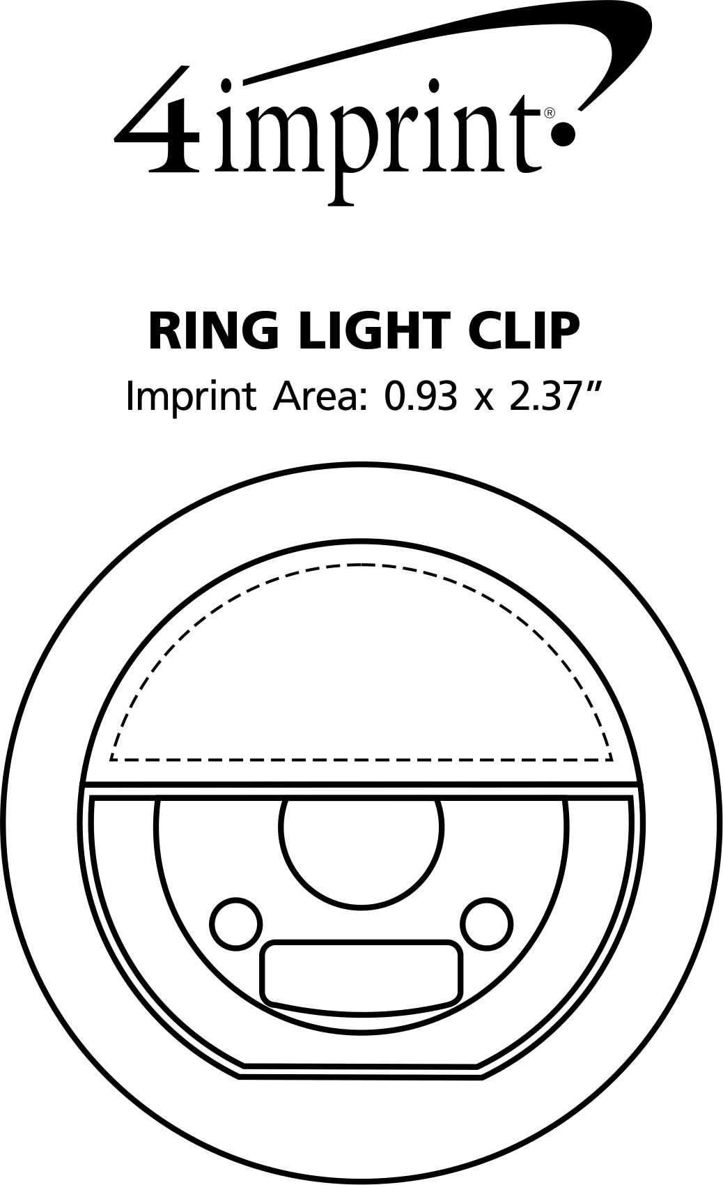 Imprint Area of Ring Light Clip