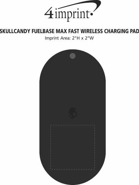Imprint Area of Skullcandy Fuelbase Max Fast Wireless Charging Pad