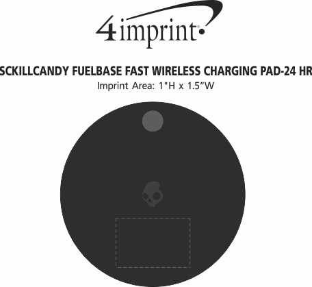Imprint Area of Skullcandy Fuelbase Fast Wireless Charging Pad - 24 hr