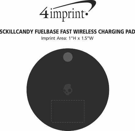 Imprint Area of Skullcandy Fuelbase Fast Wireless Charging Pad