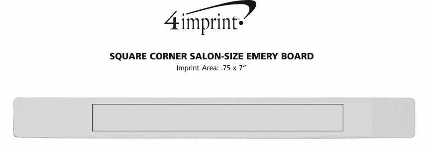 Imprint Area of Square Corner Salon-Size Emery Board