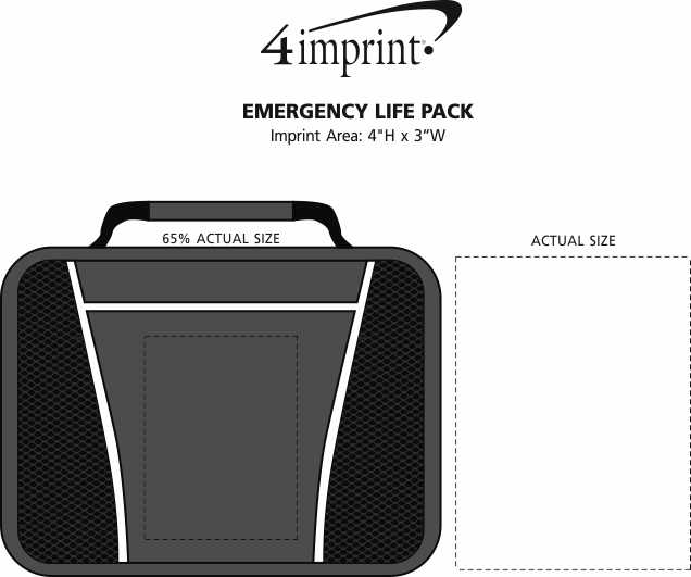 Imprint Area of Emergency Life Pack