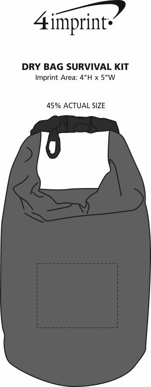 Imprint Area of Dry Bag Survival Kit