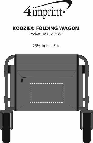 Imprint Area of Koozie® Folding Wagon