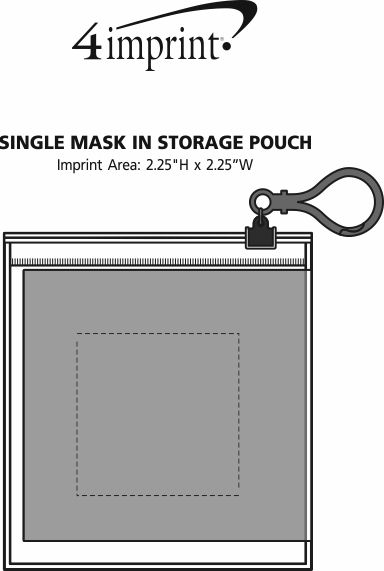 Imprint Area of Single Mask in Storage Pouch