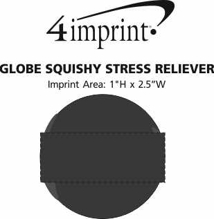 Imprint Area of Globe Squishy Stress Reliever