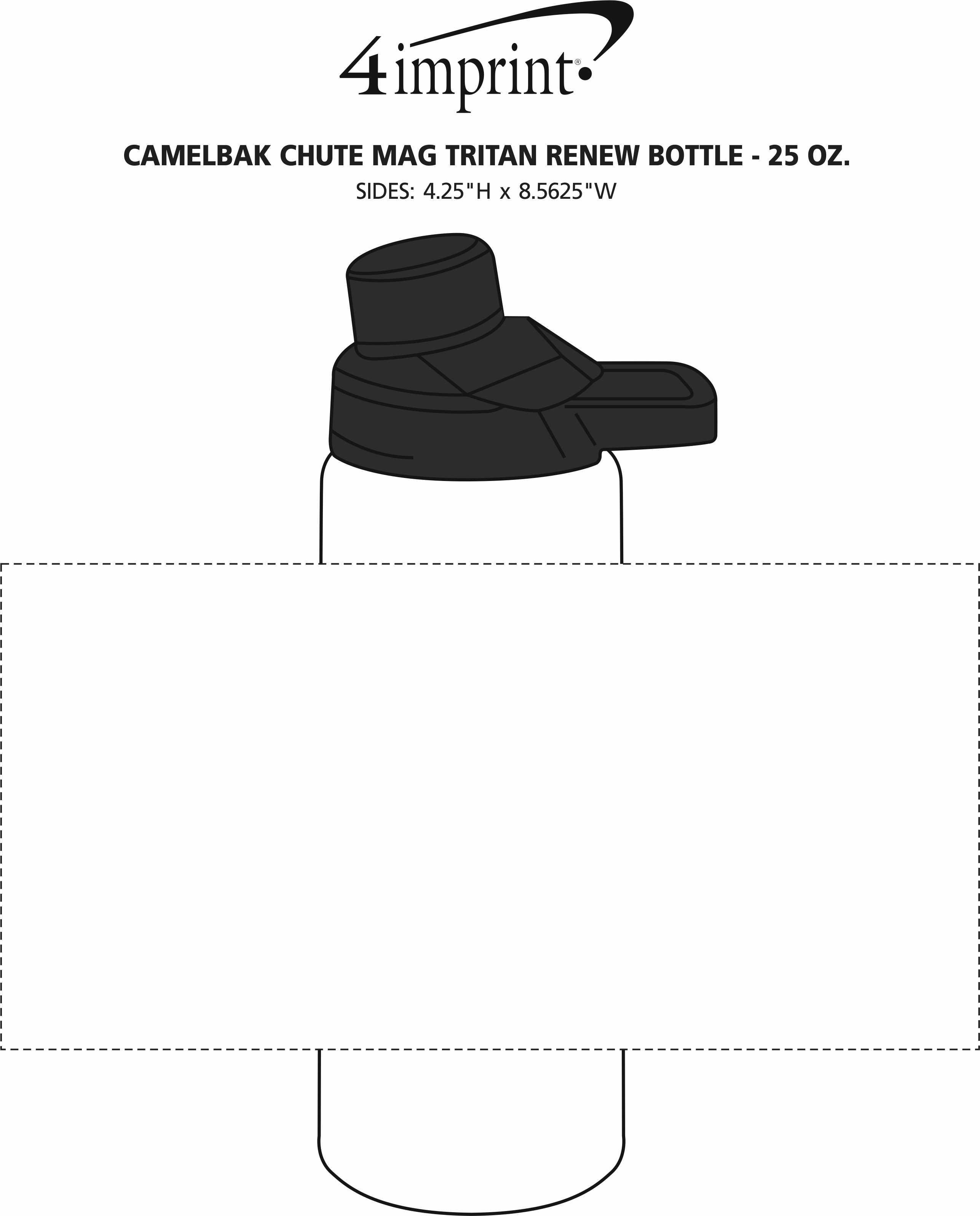 Imprint Area of CamelBak Chute Mag Tritan Renew Bottle - 25 oz.
