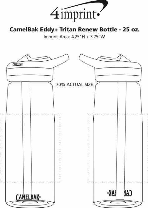 Imprint Area of CamelBak Eddy+ Tritan Renew Bottle - 25 oz.