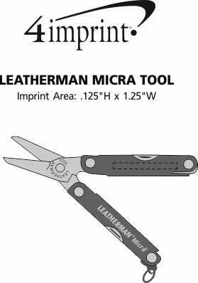 Imprint Area of Leatherman Micra Tool