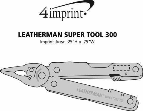 Imprint Area of Leatherman Super Tool 300