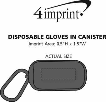 Imprint Area of Disposable Gloves in Canister