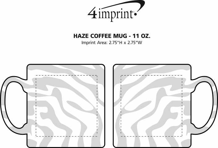 Imprint Area of Haze Coffee Mug - 11 oz.