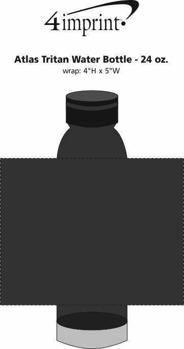 Imprint Area of Atlas Tritan Water Bottle - 24 oz.