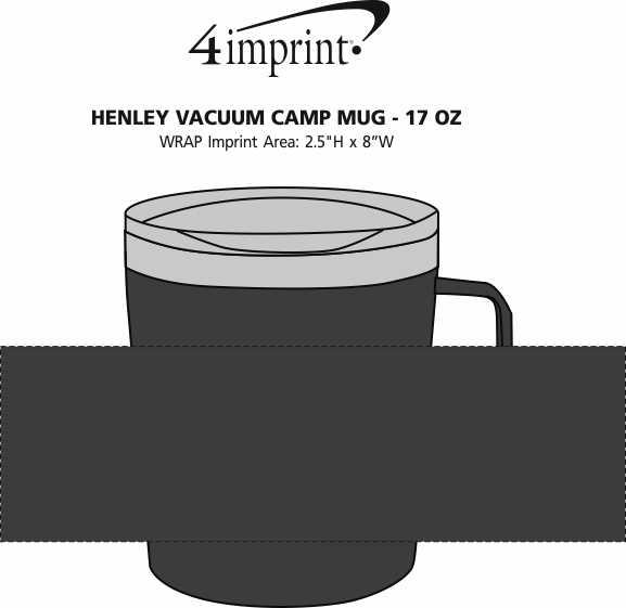 Imprint Area of Henley Vacuum Camp Mug - 17 oz.