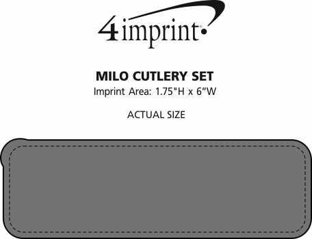 Imprint Area of Milo Cutlery Set