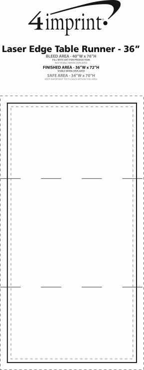 """Imprint Area of Laser Edge Table Runner - 36"""""""