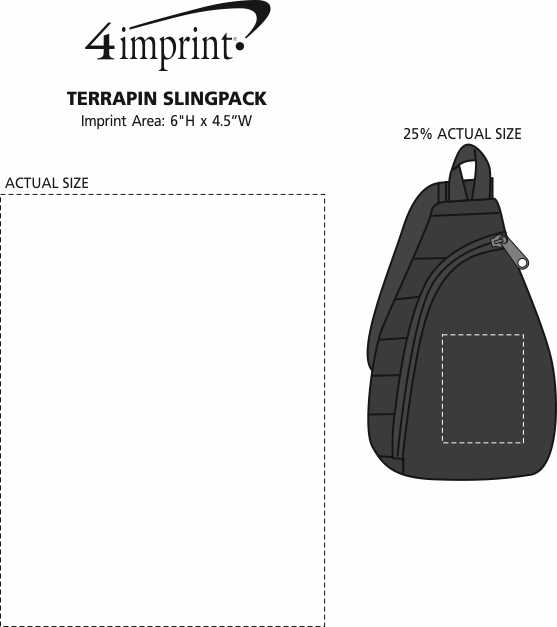 Imprint Area of Terrapin Slingpack