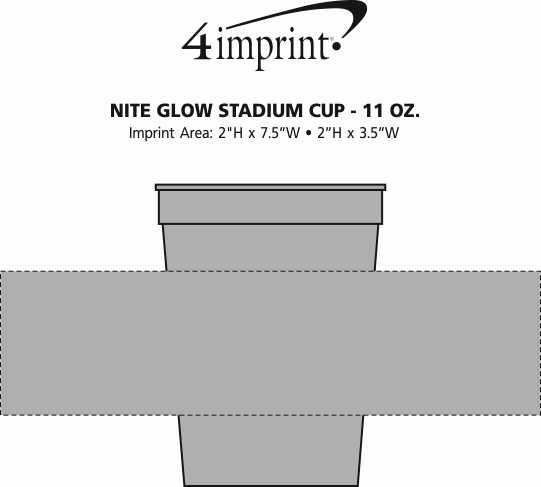 Imprint Area of Nite Glow Stadium Cup - 11 oz.
