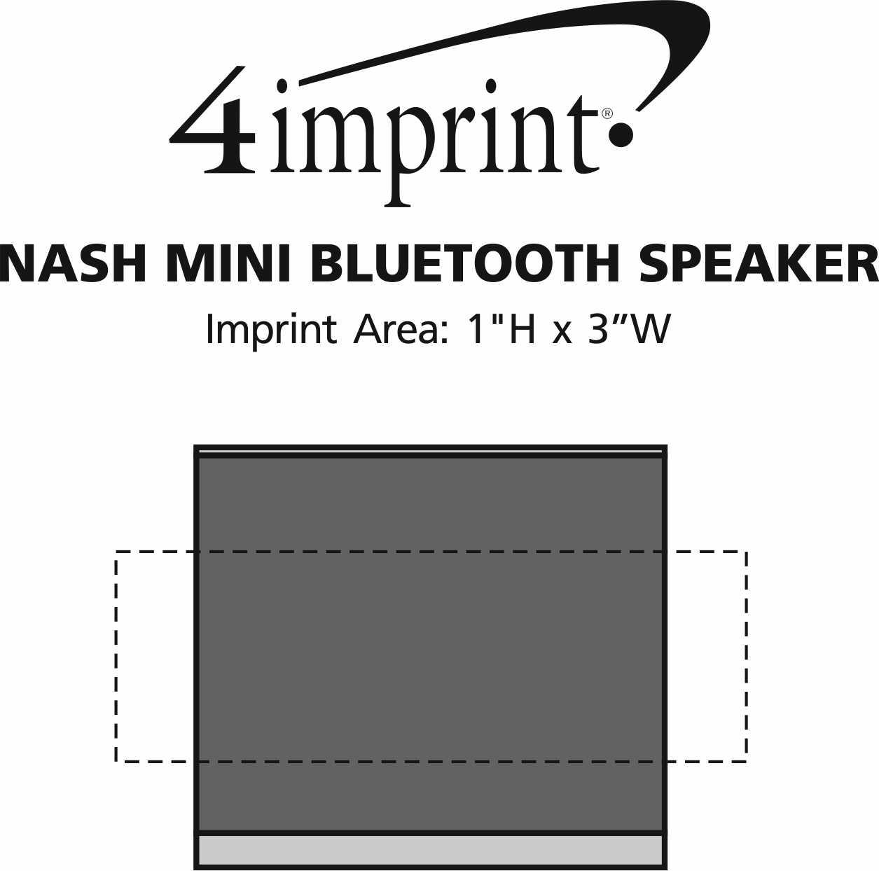 Imprint Area of Nash Mini Bluetooth Speaker