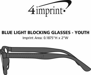 Imprint Area of Blue Light Blocking Glasses - Youth