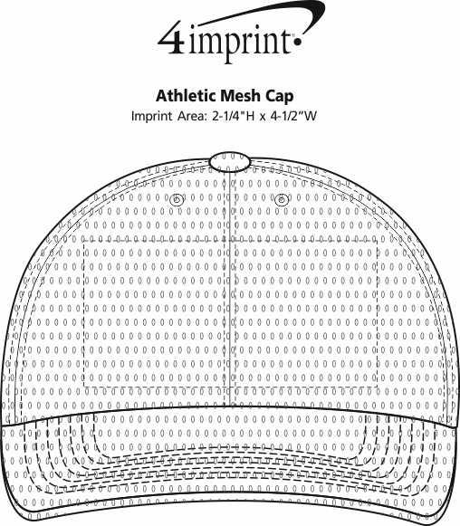 Imprint Area of Athletic Mesh Cap