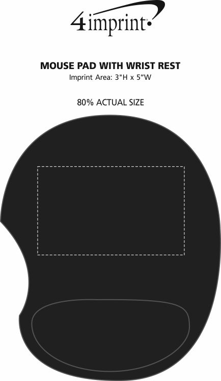 Imprint Area of Mouse Pad with Wrist Rest