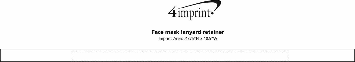 Imprint Area of Face Mask Lanyard Retainer