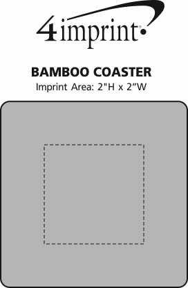 Imprint Area of Bamboo Coaster