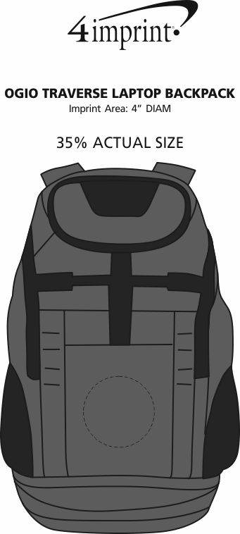 Imprint Area of OGIO Traverse Laptop Backpack