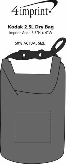 Imprint Area of Kodak 2.5L Dry Bag