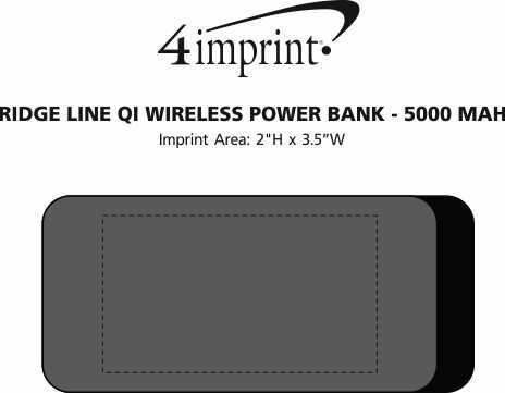 Imprint Area of Ridge Line Qi Wireless Power Bank - 5000 mAh